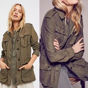 Free People Not Your Brother's Surplus Jacket Sz M